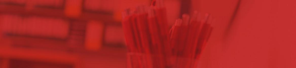 Rote Kugelschreiber im Wehnerwerk-Design