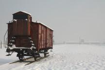 """Die """"Judenrampe"""" vor dem Konzentrationslager Auschwitz II (Birkenau)."""