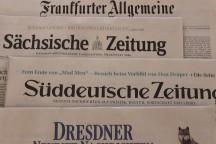 Ausgewählte regionale und überregionale Zeitungen