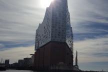 Blick auf die Elbpilharmonie in Hamburg