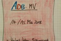 """Flipchart """"Herzlich willkommen zur Mitgliederversammlumg des ADB"""""""