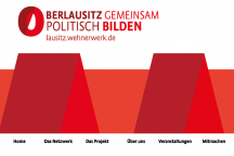 Die Website lausitz.wehnerwerk.de bietet neben einer Datenbank auch Angebote zur Qualifizierung in der politischen Bildung